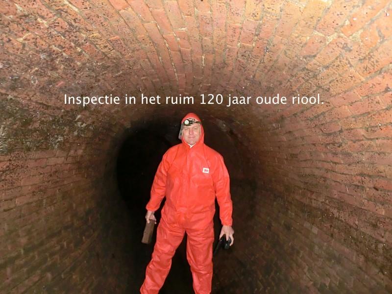 Oud riool te Deventer